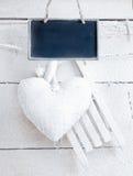 Coração romântico nas placas brancas Fotografia de Stock