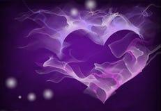 Coração roxo Imagens de Stock