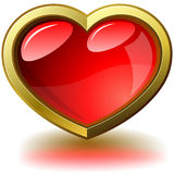 Coração roxo lustroso ilustração do vetor