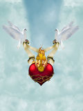 Coração sagrado Fotos de Stock