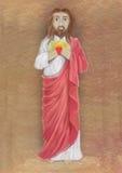 Coração sagrado da ilustração de Jesus Fotografia de Stock