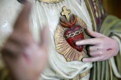Coração sagrado de Jesus Christ imagem de stock