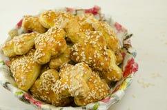 Coração salgado biscoitos dados forma Fotografia de Stock Royalty Free