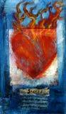 Coração Sanskrit sagrado Fotos de Stock Royalty Free