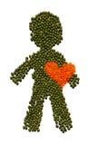 Coração saudável do vermelho do wth do indivíduo Imagens de Stock Royalty Free