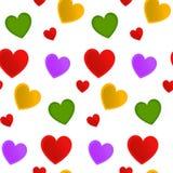 Coração sem emenda do teste padrão com um branco Imagens de Stock Royalty Free