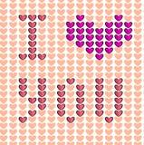 Coração sem emenda do teste padrão eu te amo Imagens de Stock
