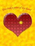 Coração sem uma parte Imagens de Stock Royalty Free