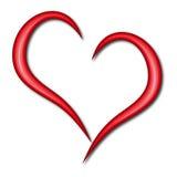 Coração simples Fotografia de Stock Royalty Free