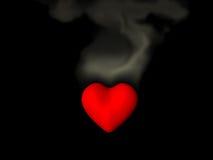 Coração Smouldering Fotos de Stock