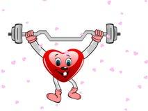 Coração sob a forma do caráter engraçado. ilustração stock