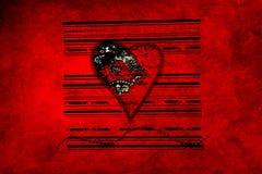 Coração sujo Foto de Stock Royalty Free