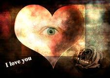 Coração sujo Imagem de Stock Royalty Free