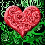 Coração tóxico ilustração stock