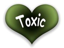 Coração tóxico ilustração royalty free