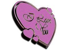 Coração Textured Foto de Stock