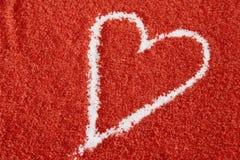 Coração Textured do amor imagens de stock