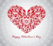 Coração textured sumário Imagens de Stock