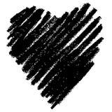 Coração tirado mão do teste padrão dado forma Imagem de Stock Royalty Free