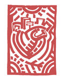 Coração tribal ilustração royalty free