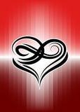 Coração tribal Imagens de Stock