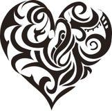 Coração tribal da arte Foto de Stock Royalty Free