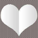 Coração vazio branco do ` s do Valentim para adicionar a rotulação nela Fotos de Stock Royalty Free