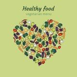 Coração vegetal saudável Fotos de Stock Royalty Free