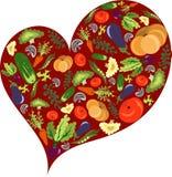 Coração vegetal saudável Fotografia de Stock
