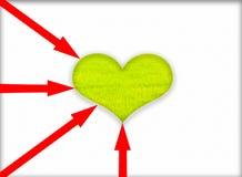 Coração verde. ilustração royalty free