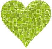 Coração verde Foto de Stock