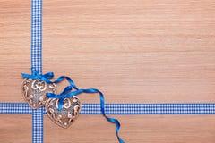 Coração verde estilizado da ilustração do vetor Fotos de Stock Royalty Free