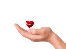 Coração vermelho à disposição Conceito do amor Imagens de Stock Royalty Free