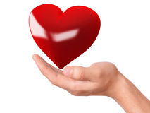 Coração vermelho à disposição Conceito do amor Imagens de Stock