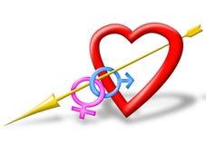 Coração vermelho ilustração stock