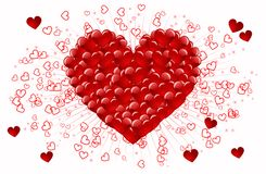 Coração vermelho Fotos de Stock
