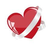 Coração vermelho. Fotos de Stock