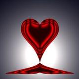 Coração vermelho 3 ilustração do vetor