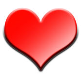 Coração vermelho 3D Fotografia de Stock