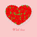 Coração vermelho Foto de Stock Royalty Free