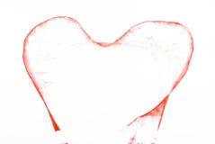 Coração vermelho Imagens de Stock