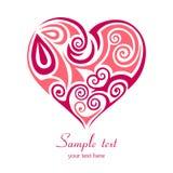 Coração vermelho abstrato. ilustração do vetor