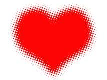 Coração vermelho abstrato Fotografia de Stock Royalty Free