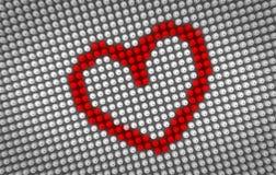 Coração vermelho batendo na exposição de diodo emissor de luz grande Imagem de Stock