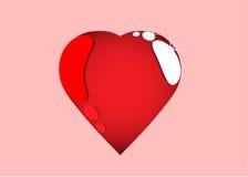 Coração vermelho com destaques Fotografia de Stock Royalty Free