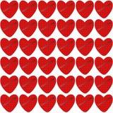 Coração vermelho com textura gravada para dentro ilustração royalty free