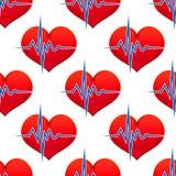 Coração vermelho com um pulso do batimento cardíaco Imagem de Stock
