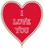 Coração vermelho com uma inscrição Foto de Stock Royalty Free