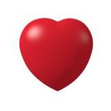 Coração vermelho 3d Fotografia de Stock Royalty Free