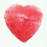 Coração vermelho da aquarela, elemento do vetor para seu projeto Imagens de Stock Royalty Free